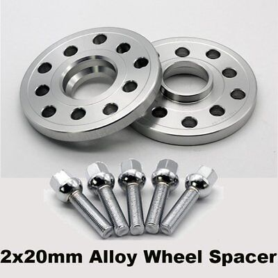20mm+OE Bolts Alloy Wheel Spacers Spacer Kit For Volkswagen Audi 5x100/112 57.1