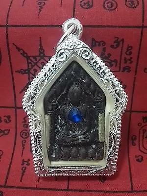 Thai Amulet Khun Paen With Powerful Takrut By Ajarn Meng-year 2554