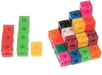 Linking Cubes 2cm 100p In PET Jar Maths Teacher Resource Educational Learning