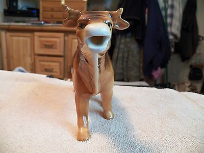 Vintage Brown Ceramic Cow Creamer Cream Milk Dispenser