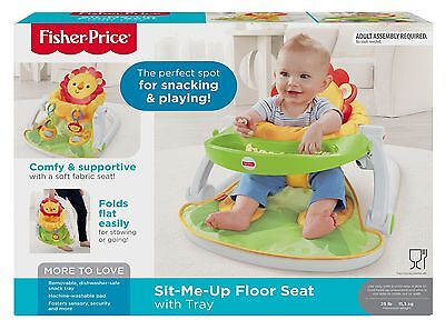 NEW Sit-Me-Up Floor Seat With Tray Adjustable Features By Fisher-Price