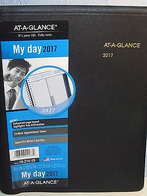 AT-A-GLANCE My Day 2017 24 Hour Appointment and Memoranda Planner 8.5 x 10 7/8