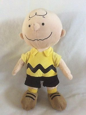 "14"" Kohl's Care Charlie Brown In Yellow/Black Outfit W/Brown Shoes Plush Toy"