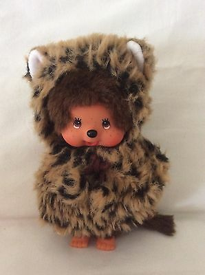 Sekiguchi Monchhichi MCC Cat Doll In Black/Brown Poncho W/Tassels