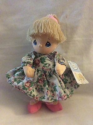Precious Moments Tiffany Doll In Spring Flowered Dress