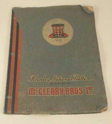 1938 Rhodes National Hatter Catalog Mccleary Bros Memphis TN Millinery Hats