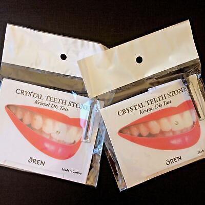 2 x Tooth Gem Kits Genuine Crystals With Adhesive 5 Sparkle Stones In a Pack