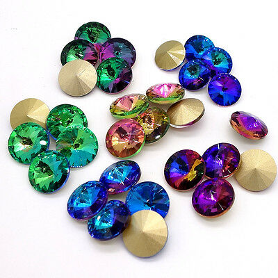 Wholesale 15pcs XILION ELEMENTS Crystal glass Rivoli loose Beads DIY 14mm