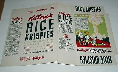 1941 Kelloggs Rice Krispies Cereal Box w/ Vernon Grant OLD FAITHFUL art