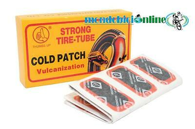 2 pezze riparazione gomme bici ovali 32x50 mm Thumbs Up Cold Patch