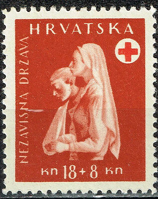 Croatia Germany Axis WW2 Red Cross Nurse and Wounded Soldier 1942 MLH