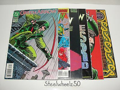 Green Arrow 6 Comic Lot DC 1993 #80 88 90 100 Annual 2 4 1991 Death Oliver Queen