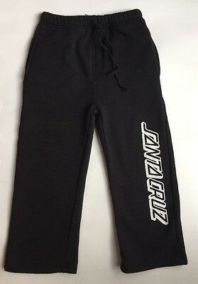 SANTA CRUZ Skateboards NorCal Black Sweatpants Pocket Lounge Pull-On Pants