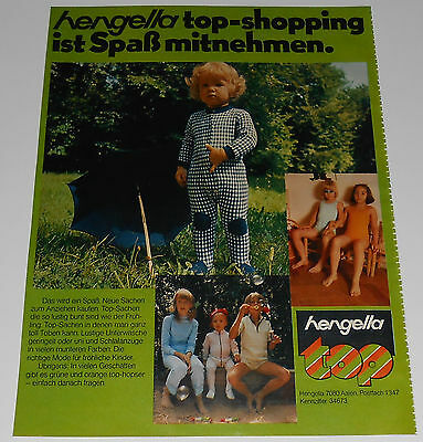 1973 vintage print ad - LITTLE BOYS GIRLS ONE PIECE - GERMANY 1-PAGE ADVERT nude
