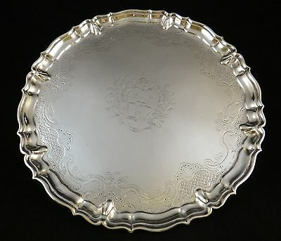 Vintage English George II Sterling Silver Tray. 1736, John Tuite -London,11 3/8