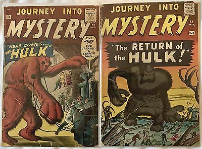 Journey into Mystery #62  66 (Nov 1960, Marvel) Hulk prototype Ditko Kirby Lee