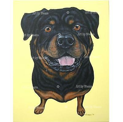 Rottweiler Painting Original Art Dog Picture Pet Portrait