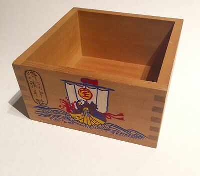 Hand Painted Wooden Japanese Box Vintage