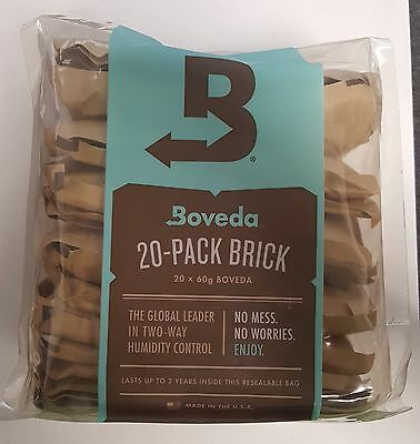 Boveda 84% 2-Way Humidor Control Large 60 gram 20 CT BRICK 2 YEAR SHELF LIFE