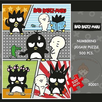 Authentic Licensed Sanrio Bad-Badtz Maru Numbering Jigsaw Puzzle #a