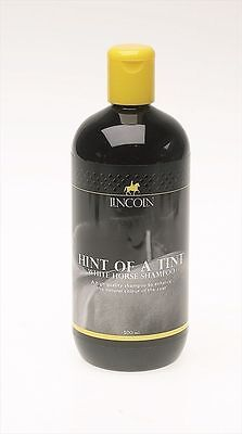 Lincoln Hint of a Tint White Horse Shampoo - Horse Pony Care - 500ml