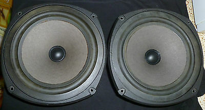 "Vintage Pair of Celestion DL6 Replacement Woofer Drivers 8.5"", ENGLAND"