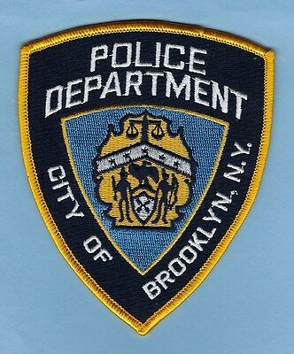 "New York City Police Department ""city Of Brooklyn"" Novelty Patch ~ Awesome"