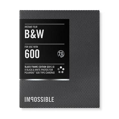 Impossible 600 Instant Black & White 2.0 Film with Black Frame - PRD4155