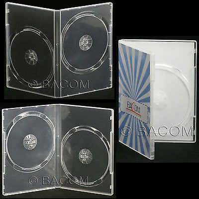 200 Fundas DVD Doble Transparente - DVD Super Claro para 2 DVD/CD Sp