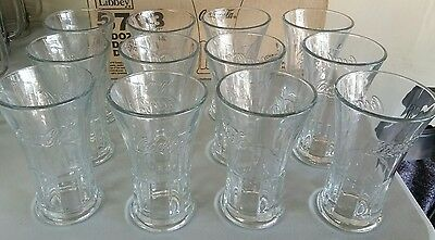 New Set of 12 Coca-Cola 16oz Footed Flare Glasses by Libbey