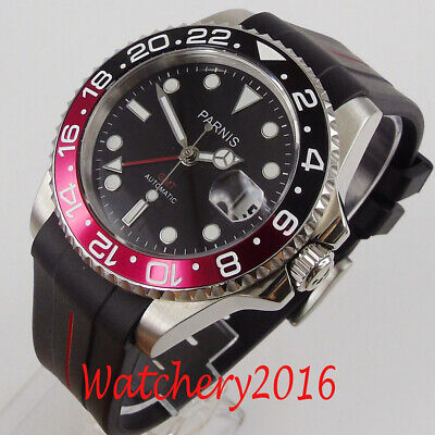 BLIGER 43mm Stainless steel case Black automatic movement mens Date wrist watch