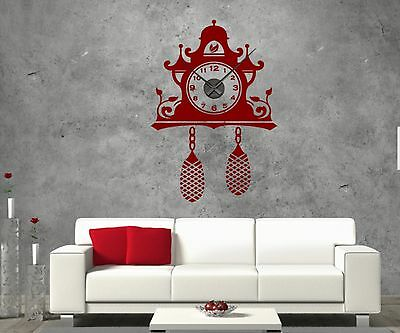 Mural tattoo with Wall clock Cuckoo Home Pay Watch Office Sticker 1X020