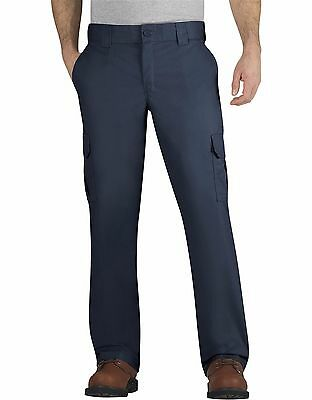 Dickies WP595 Men's Dark Navy FLEX Regular Fit Straight Leg Cargo Pant Workwear