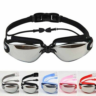 Swimming Goggles Anti Fog UV Protection Waterproof Swim Glasses with Ear Plugs