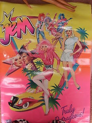 VINTAGE Jem hasbro poster Very hard to find great item :) 1985