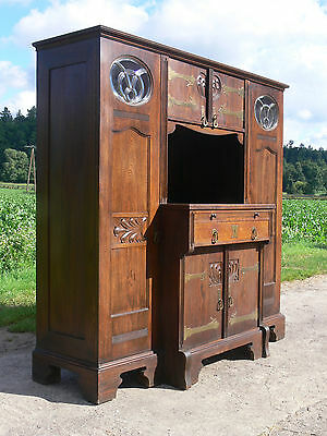 jugendstil schrank eiche anrichte buffetschrank eiche antik jugendstilbuffet eur 500 00. Black Bedroom Furniture Sets. Home Design Ideas