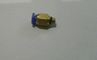 Pneumatic quick joint M6 thread ptfe tube extruder feeding pipe 3d printer