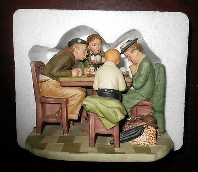 """Norman Rockwell Porcelain """"GRACE BEFORE MEALS"""" Collectible Figurine"""