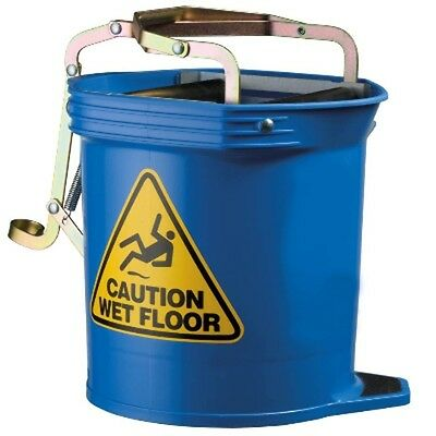 CONTRACTOR RINGER WIDE MOUTH BUCKET OATES W360xD670xH420MM 16L BLUE(EACH)