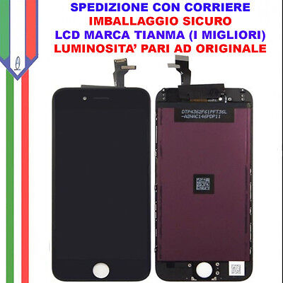 Schermo Display LCD Touch Apple Iphone 6 Nero Originale TianMa OEM Vetro Glass