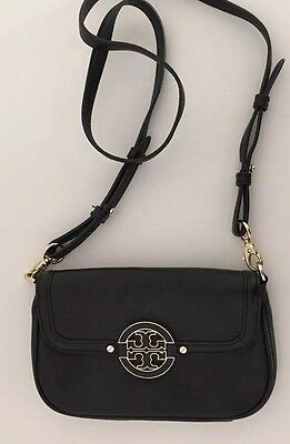 tory burch tasche handtasche crossbody schwarz leder eur. Black Bedroom Furniture Sets. Home Design Ideas