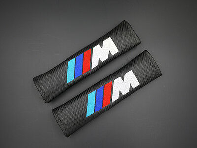 2 M Performance Carbon Fiber Car Seat Belt Cover Shoulder Pad 002 AU Shipping