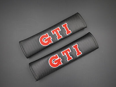 2 GTI Carbon Fiber Car Seat Belt Cover Shoulder Pad 020 AU Shipping