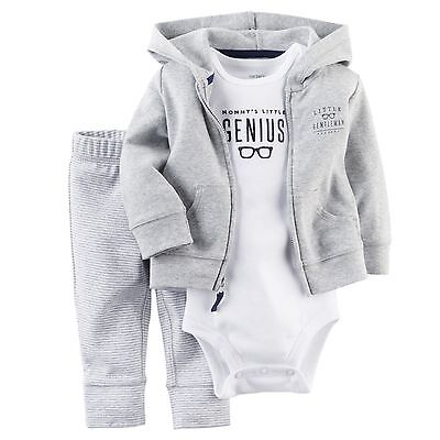 Carters Newborn 6 9 12 18 Months Cardigan Pants Set Baby Boy Outfit Clothes