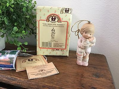 """Memories Of Yesterday 1996  """"Can I Keep Her, Mommy?"""" Ornament Enesco"""