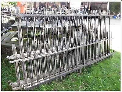 Antique Iron Mansion Fence And Gate