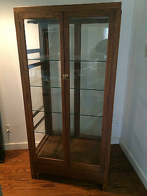 Antique Oak and Glass Bakery Pie and Cake Display Cabinet