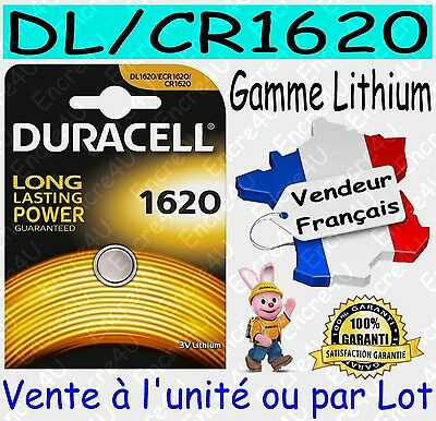 Piles boutons CR1620 DURACELL - Vente aussi : CR2032 CR2025 CR2016 CR2430 CR2450