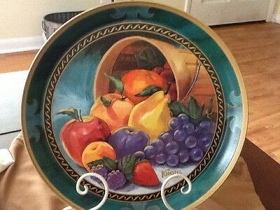 Beautiful Knott's Berry Farm Decorative Tin Serving Tray 12""