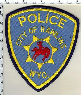 City of Rawlings Police (Wyoming) Shoulder Patch from the 1980's